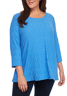 Kim Rogers 3/4 Swing Crochet Back Top