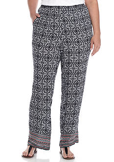 Kim Rogers Plus Size Parade Crinkle Pant