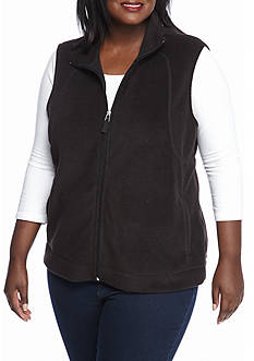 Kim Rogers Women's Plus Polar Fleece Vest