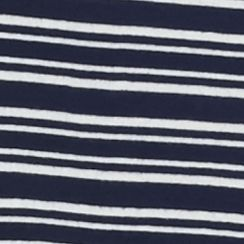 Women's Plus: Kim Rogers Tops: Atlas Ivory/ Harbor Navy Kim Rogers Plus Size 2-Pocket Henley Striped Shirt