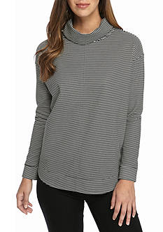 Kim Rogers Noda Stripe Turtleneck Top