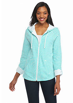 Kim Rogers® Double Knit Striped Jacket