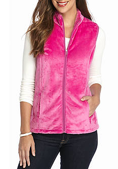 Kim Rogers PINK BUNNY FLEECE VEST SMALL