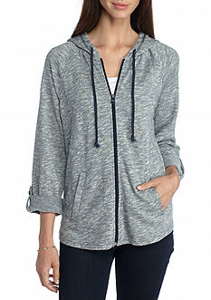 Kim Rogers Roll Sleeve Spacedye Jacket