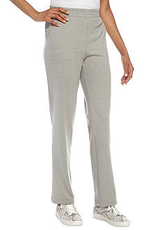 Kim Rogers® French Terry Straight Leg Pant (Short Length)