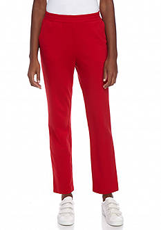 Kim Rogers French Terry Straight Leg Pant (Short Length)