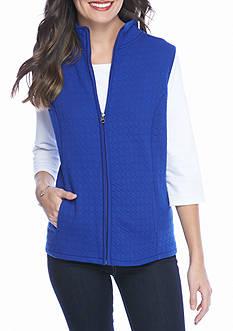 Kim Rogers Knit Quilt Circle Vest