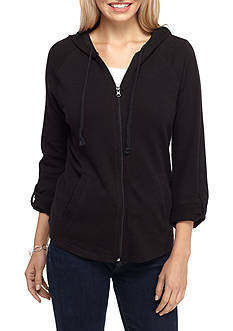 Kim Rogers® Roll Up Sleeve Solid Jacket