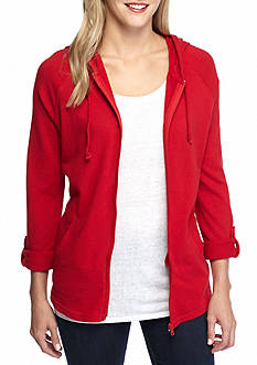 Kim Rogers Roll Up Sleeve Solid Jacket