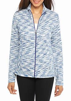 Kim Rogers Long Sleeve Mockneck Spacedye Jacket
