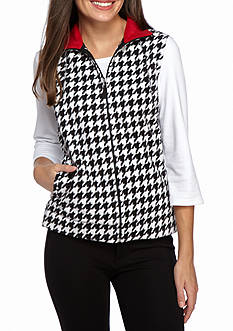 Kim Rogers Fleece Vest Houndstooth
