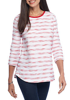 Kim Rogers® Striped Knit Pullover Tunic