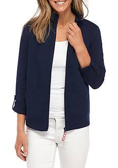 Kim Rogers 3/4 Sleeve Round Hem Jacket