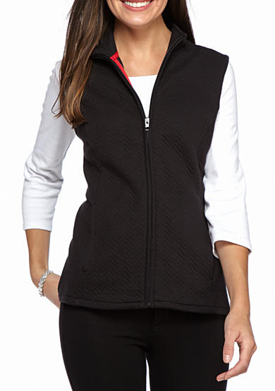 Kim Rogers® Knit Quilted Vest