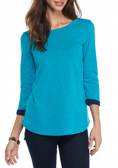 Kim Rogers® Double Knit Boat Neck Top