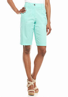 Kim Rogers Knit Trim Bermuda Shorts