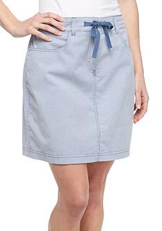 Kim Rogers Twill Striped Knit Skort