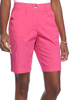 Kim Rogers Knit Trim Bermuda Shorts