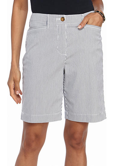 Kim Rogers® Long Pocket Bermuda Stripe Shorts