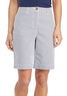 Kim Rogers Long Pocket Bermuda Stripe Short