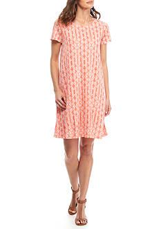 Kim Rogers Short Sleeve Swing Print Dress