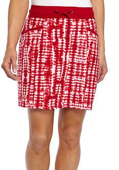 Kim Rogers Tie Dye Knit Drawstring Skort