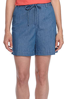 Kim Rogers Tie Front Woven Shorts