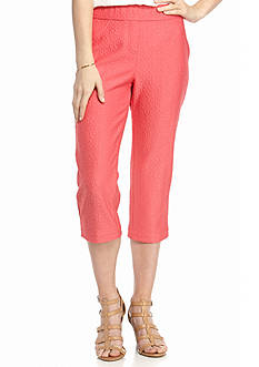 Kim Rogers Knit Pull-On Capri Pants