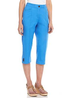 Kim Rogers Knit Waistband Capri Pants