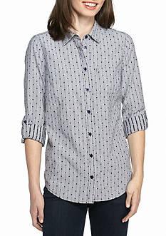 Kim Rogers Dobby Pattern Knit Top