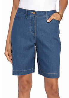Kim Rogers Denim Long Pocket Bermuda Shorts