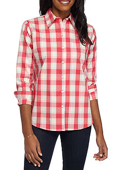 Kim Rogers No-Iron Plaid Shirt