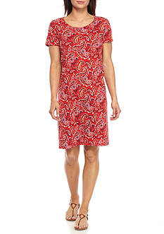 Kim Rogers Swing Paisley Print Shirt Dress