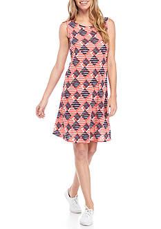 Kim Rogers Sleeveless Printed Swing Dress