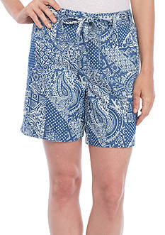 Kim Rogers® Chambray Printed Shorts