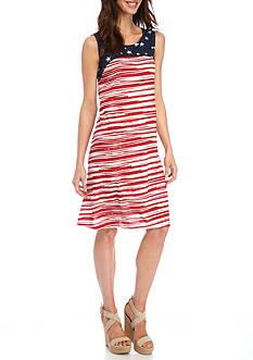 Kim Rogers Sleeveless Swing Americana Dress