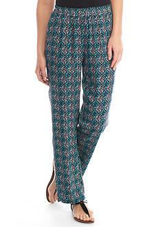 Kim Rogers Soft Geo Print Pants