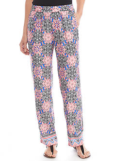 Kim Rogers Soft Medallion Printed Pants
