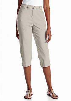 Kim Rogers® Solid Belted Capri