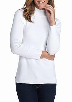 Kim Rogers Rib Mock Neck Sweater