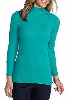 Kim Rogers Rib Mock Neck Sweater