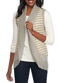 Kim Rogers Novelty Vest with Rounded Hem