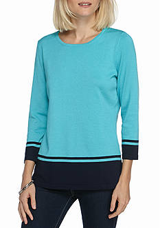 Kim Rogers Color Block Pullover