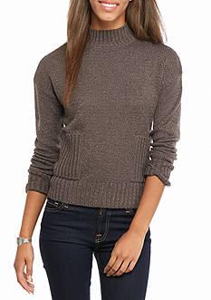 LOVE by DESIGN Mock Neck Pocket Pullover