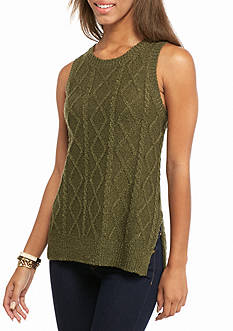 LOVE by DESIGN Sleeveless Cable Sweater