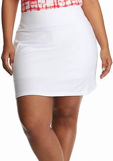 Kim Rogers® Plus Size Solid Stretch Jersey Skort