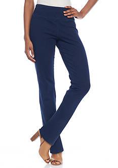 Kim Rogers Petite Size Straight Denim Pull On Pants