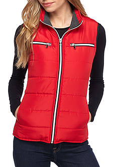 Kim Rogers Shirred Side Quilted Vest