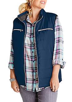 Kim Rogers Plus Size Shirred Side Vest