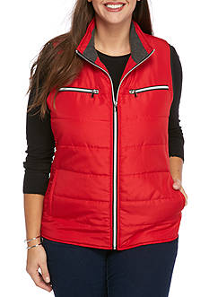 Kim Rogers Plus Size Shirred Side Vest